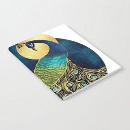 Golden Peacock Notebook
