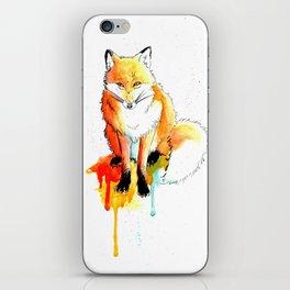 Watercolor Fox iPhone Skin