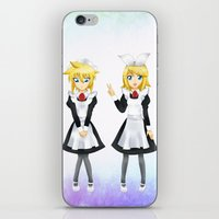 vocaloid iPhone & iPod Skins featuring Kagamine Twins by Amber Steel