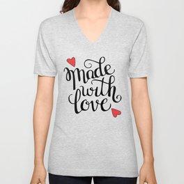 Made With Love Unisex V-Neck