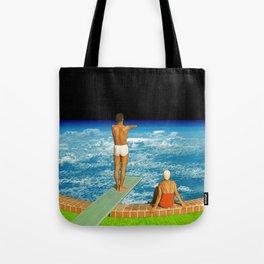 Jump in clouds Tote Bag