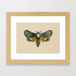 Death's head hawkmoth moth Framed Art Print