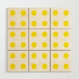Canary Yellow Wood Wall Art