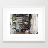shopping Framed Art Prints featuring Shopping by Rosemary  Aubut