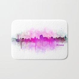 Rome city skyline HQ v05 pink Bath Mat