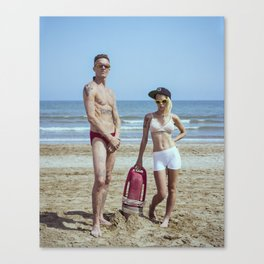 The Baywatchers, Ninja and Yo-Landi Visser Canvas Print