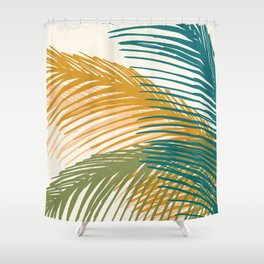 Golden Hour Palms Shower Curtain