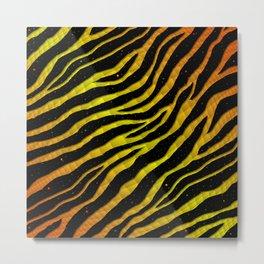 Ripped SpaceTime Stripes - Orange/Yellow Metal Print