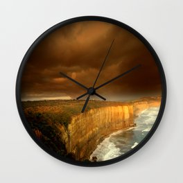 Limestone Cliffs Wall Clock