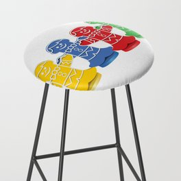 Candy Board Game Figures Bar Stool