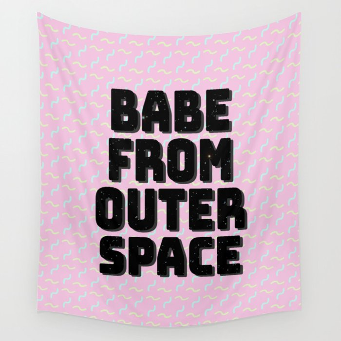 Babe from Outer Space Wall Tapestry