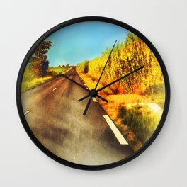 Country Road Wall Clock