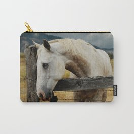 Horse and Fence Carry-All Pouch