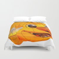 korean Duvet Covers featuring Korean Lantern  by Benedict Middleton