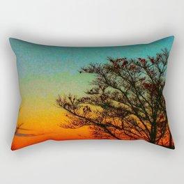 Turquoise Sunset Rectangular Pillow