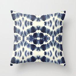 BOHEMIAN INDIGO BLUE Throw Pillow