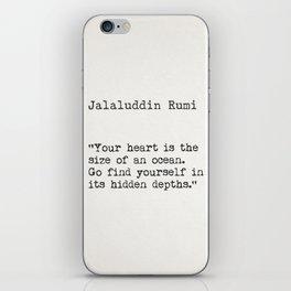 Rumi quote iPhone Skin