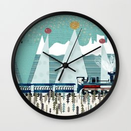 the penguin express Wall Clock