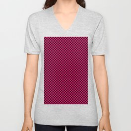 Mosaic black and pink Unisex V-Neck