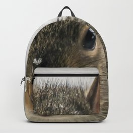 Adorable Praying Squirrel..Feed ME!! Backpack