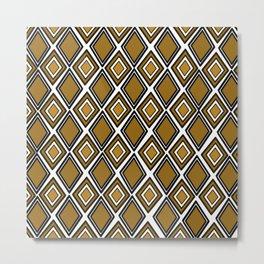 African print style Metal Print