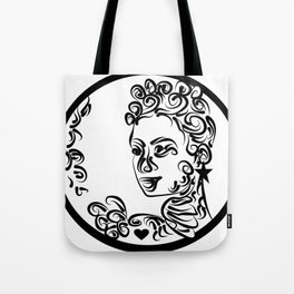 Grenada Queen Black & white Tote Bag