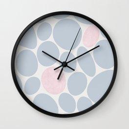 Pink pebbles Wall Clock