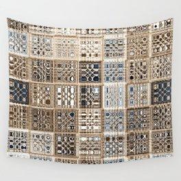 Slate Tan Sari Wall Tapestry