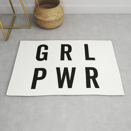 GRL PWR / Girl Power Quote Rug