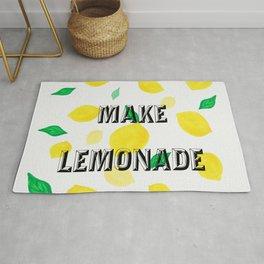 Make lemonade cute quote Rug