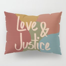Love and Justice in Fall Colors Pillow Sham