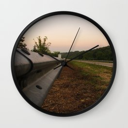 Life Down a Guard Rail Wall Clock