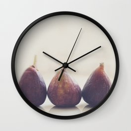We 3 Figs Wall Clock