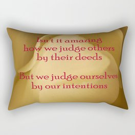judgment Rectangular Pillow