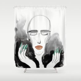 Charles in a Feather Boa Shower Curtain