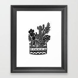 Botanical Pot Block Print Framed Art Print