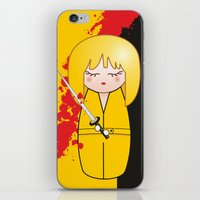 kill bill iPhone & iPod Skins featuring Kokeshi Beatrix of Kill Bill by Pendientera
