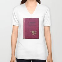 "zappa V-neck T-shirts featuring ""So many books, so little time.""  ― Frank Zappa by Dora Birgis"