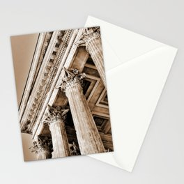 Ancient Roman Temple Nimes Provence France Sepia Stationery Cards