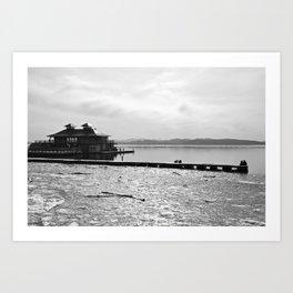 Burlington Pier Art Print