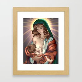 Madonna Lactan Framed Art Print
