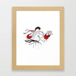 street fighter ryu character  fan art by me Framed Art Print