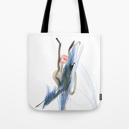 Expressive Dance Drawing Tote Bag