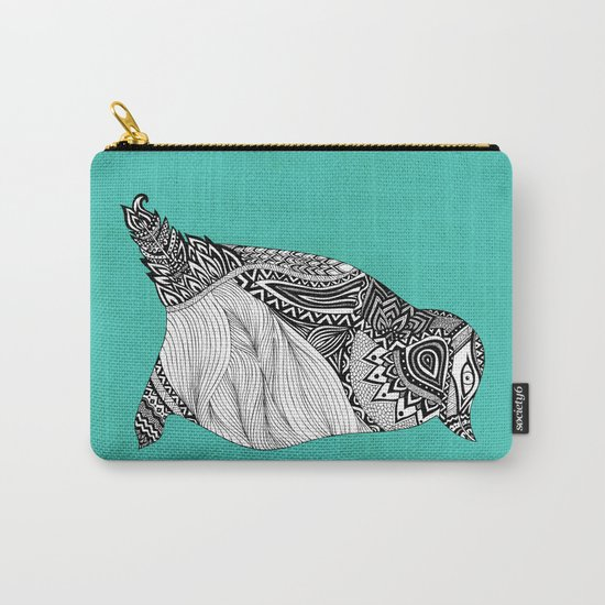 Tribal Penguin Carry-All Pouch