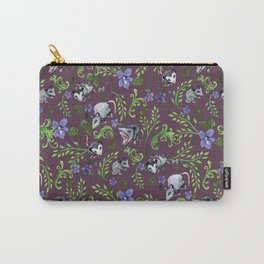 Opossum, Fern, & Violet Print Carry-All Pouch