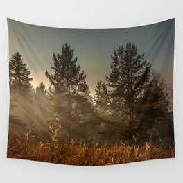 Autumn sun beam Wall Tapestry