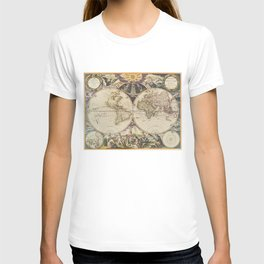 Vintage Map of The World (1668) T-shirt