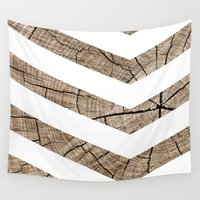 tree rings Wall Tapestries featuring Tree Rings by Tyler
