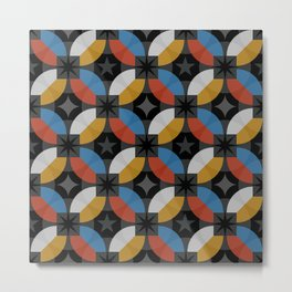 Lovely abstract hand drawn vintage geometric illustration pattern Metal Print