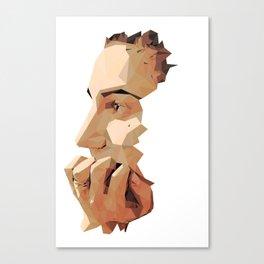 PolyHead Profile Canvas Print